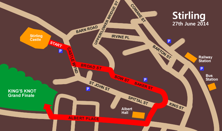 Pipefest Stirling - Route